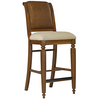 "Claire Mid Tone 30"" Woven Barstool"