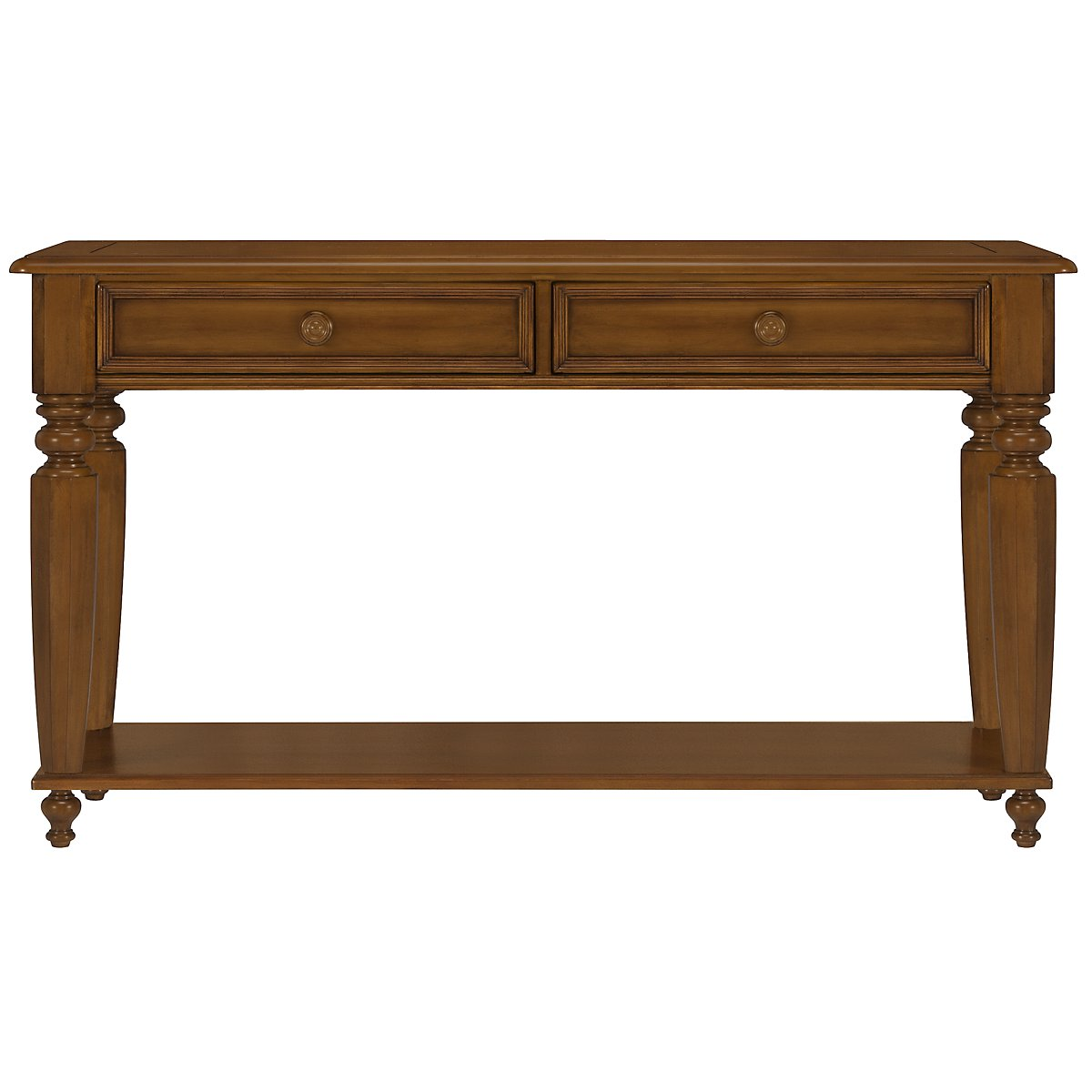 Claire Mid Tone Storage Sofa Table