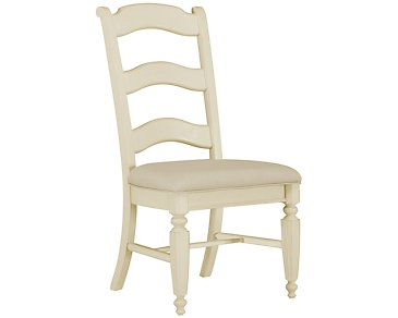 Claire White Wood Side Chair
