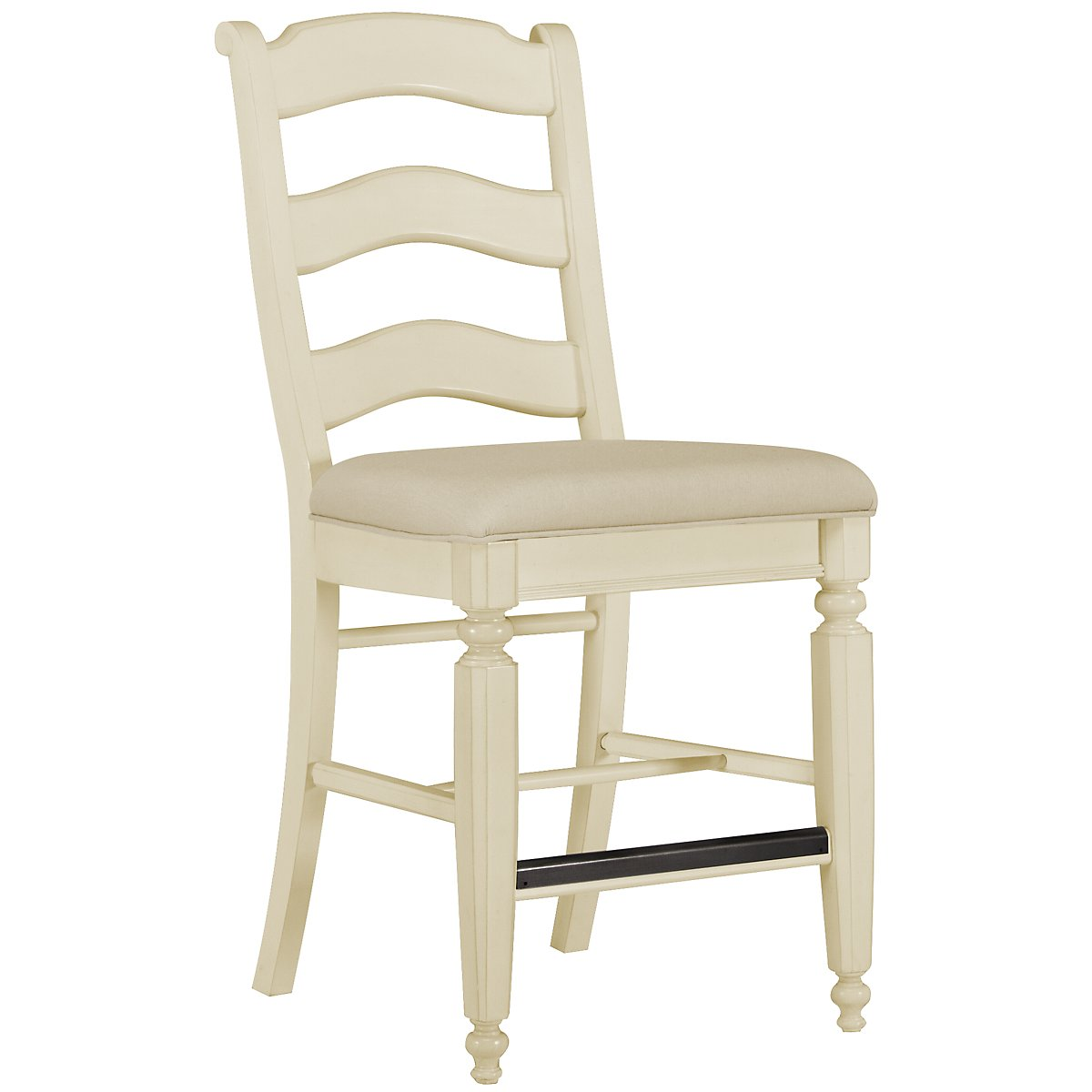 "Claire White 24"" Wood Barstool"