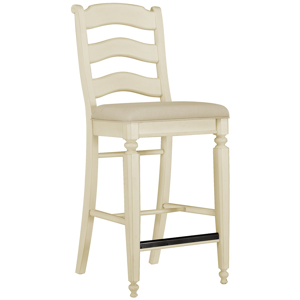 "Claire White 30"" Wood Barstool"
