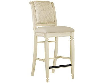 "Claire White 30"" Woven Barstool"