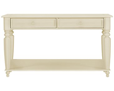 Claire White Storage Sofa Table