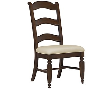 Claire Dark Tone Wood Side Chair