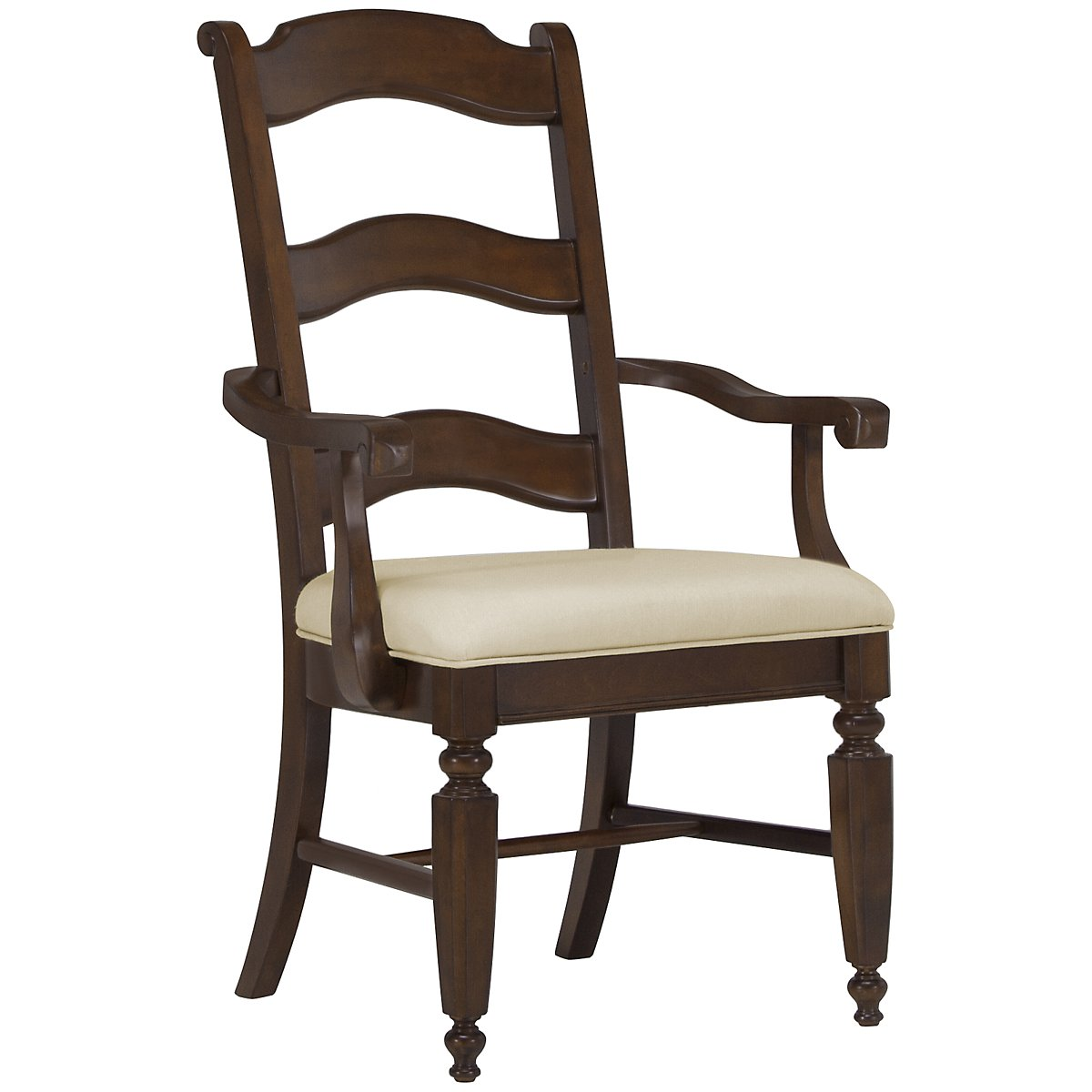 Claire Dark Tone Wood Arm Chair