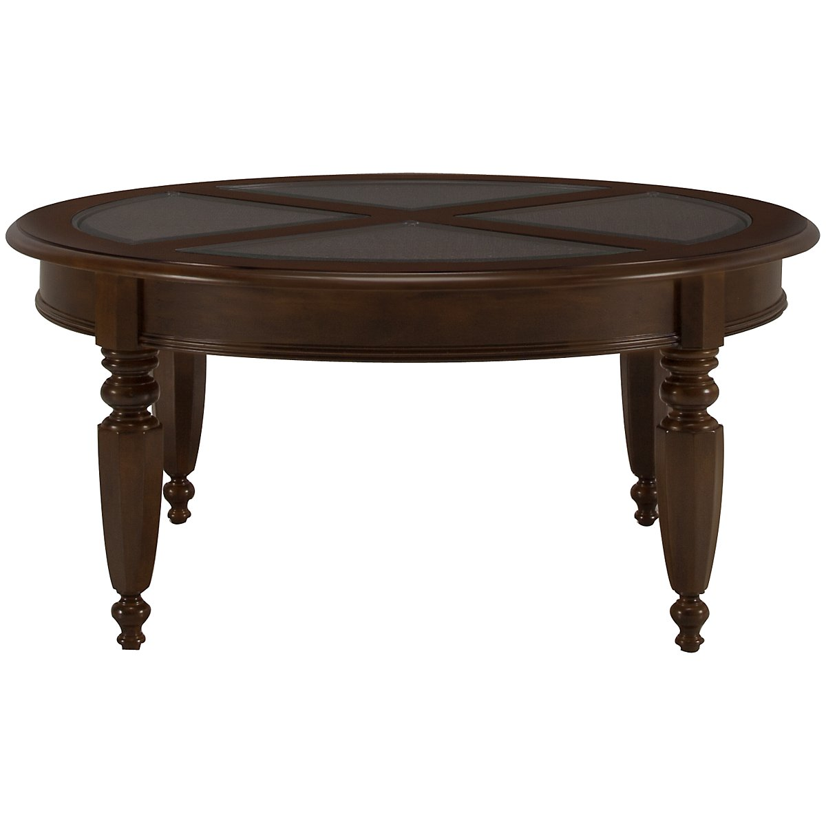 Claire Dark Tone Round Coffee Table
