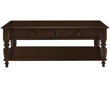 Claire Dark Tone Storage Rectangular Coffee Table
