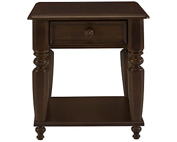 Claire Dark Tone Wood Storage End Table
