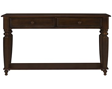 Claire Dark Tone Storage Sofa Table