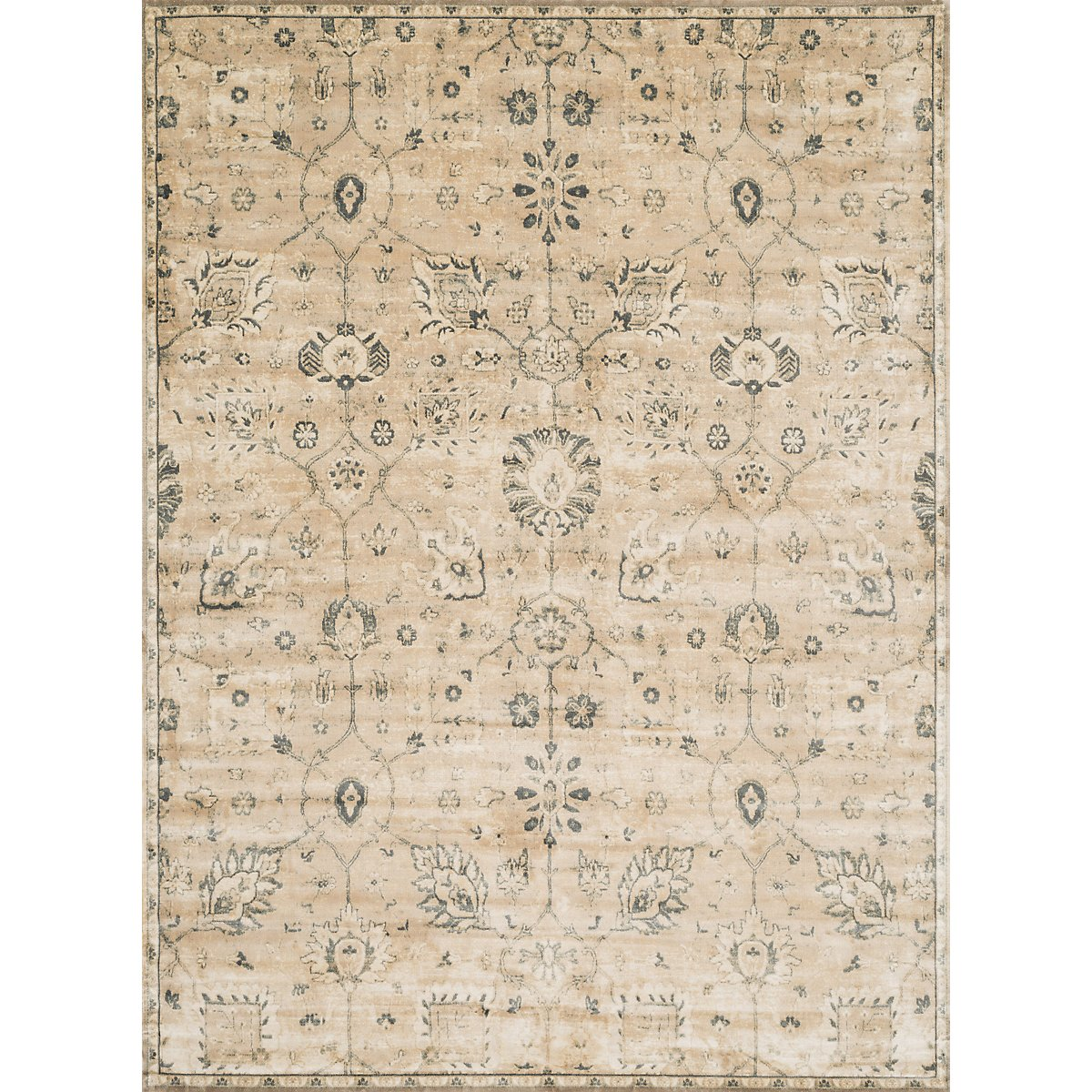 Lotus Beige 8X10 Area Rug