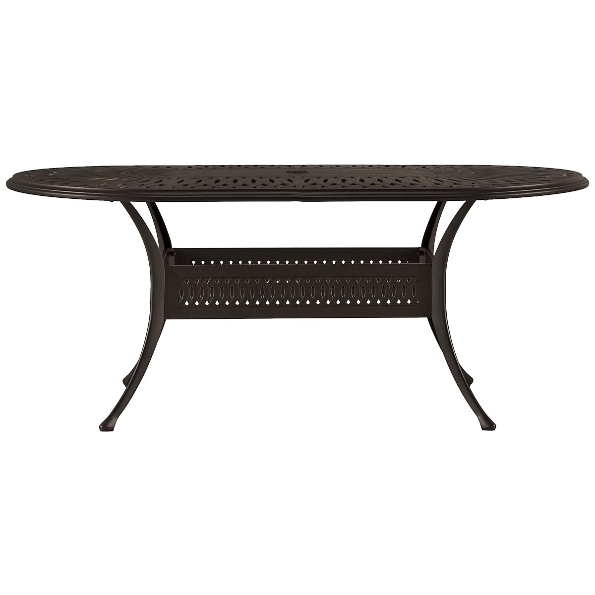 "Primera Dark Tone 72"" Oval Table"