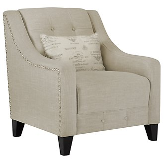 Hutton3 Light Taupe Linen Chair