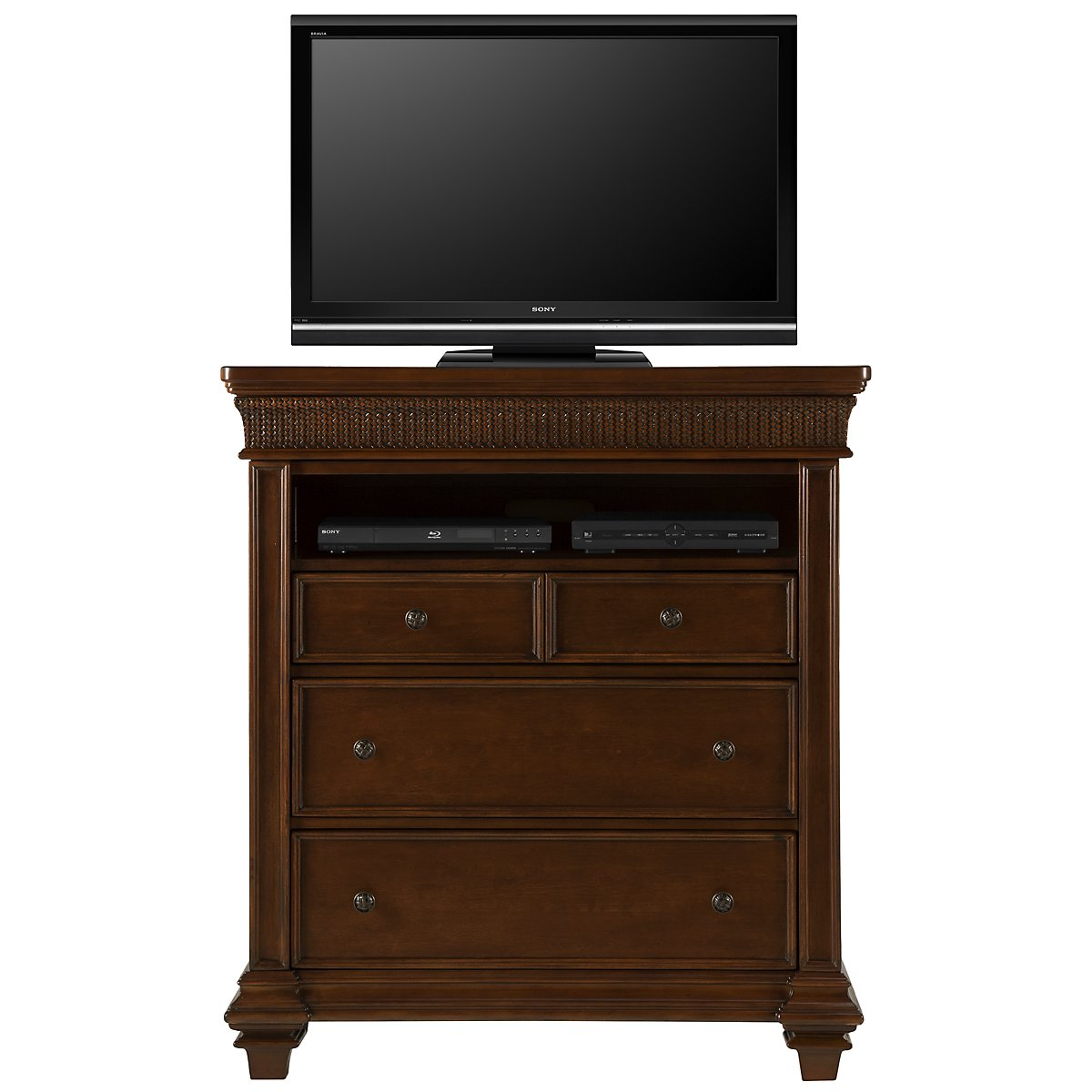 Antigua Mid Tone Media Chest