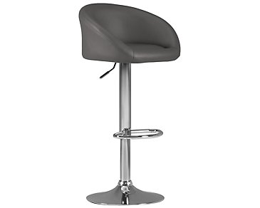 Dayton Gray Upholstered Adjustable Stool