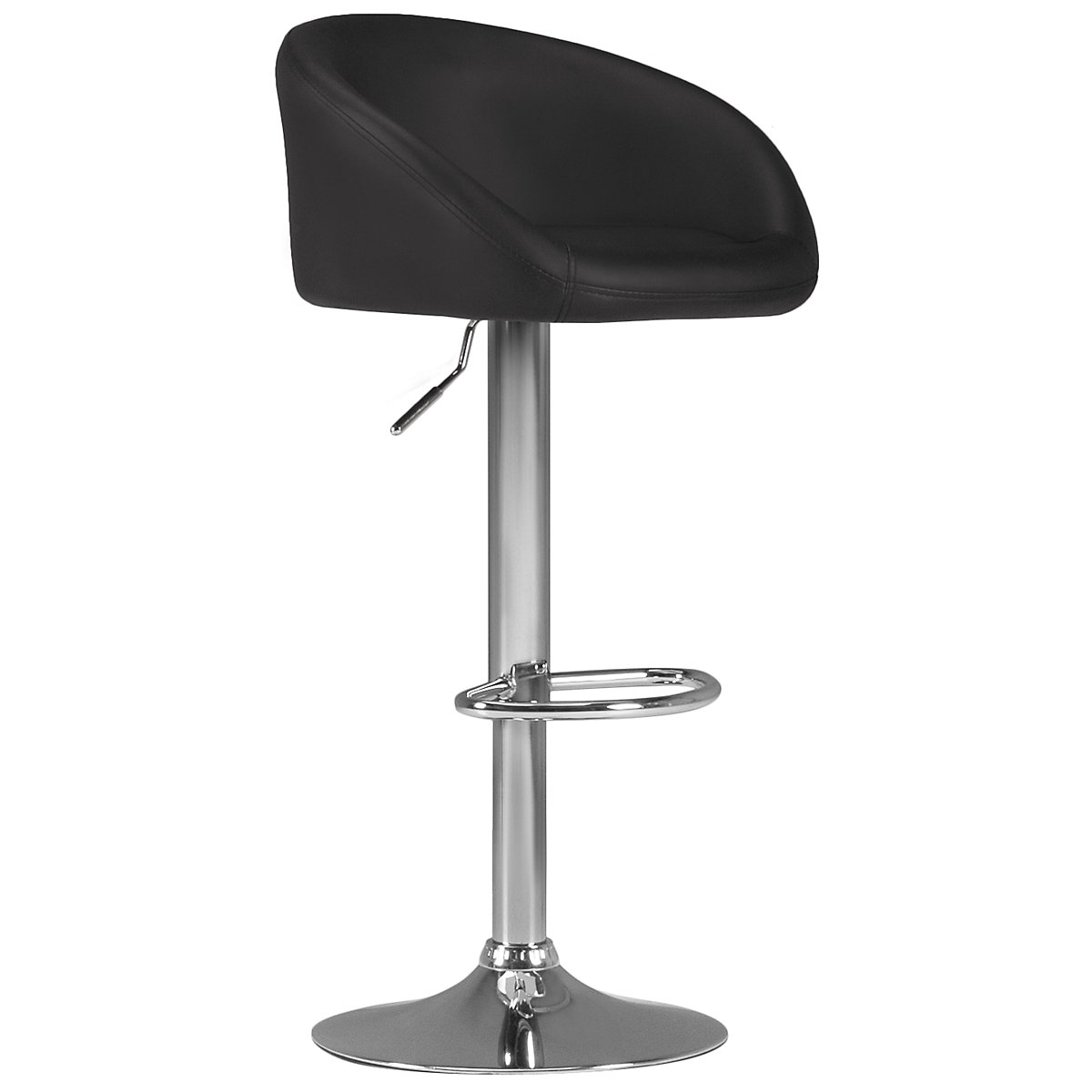 Dayton Black Upholstered Adjustable Stool