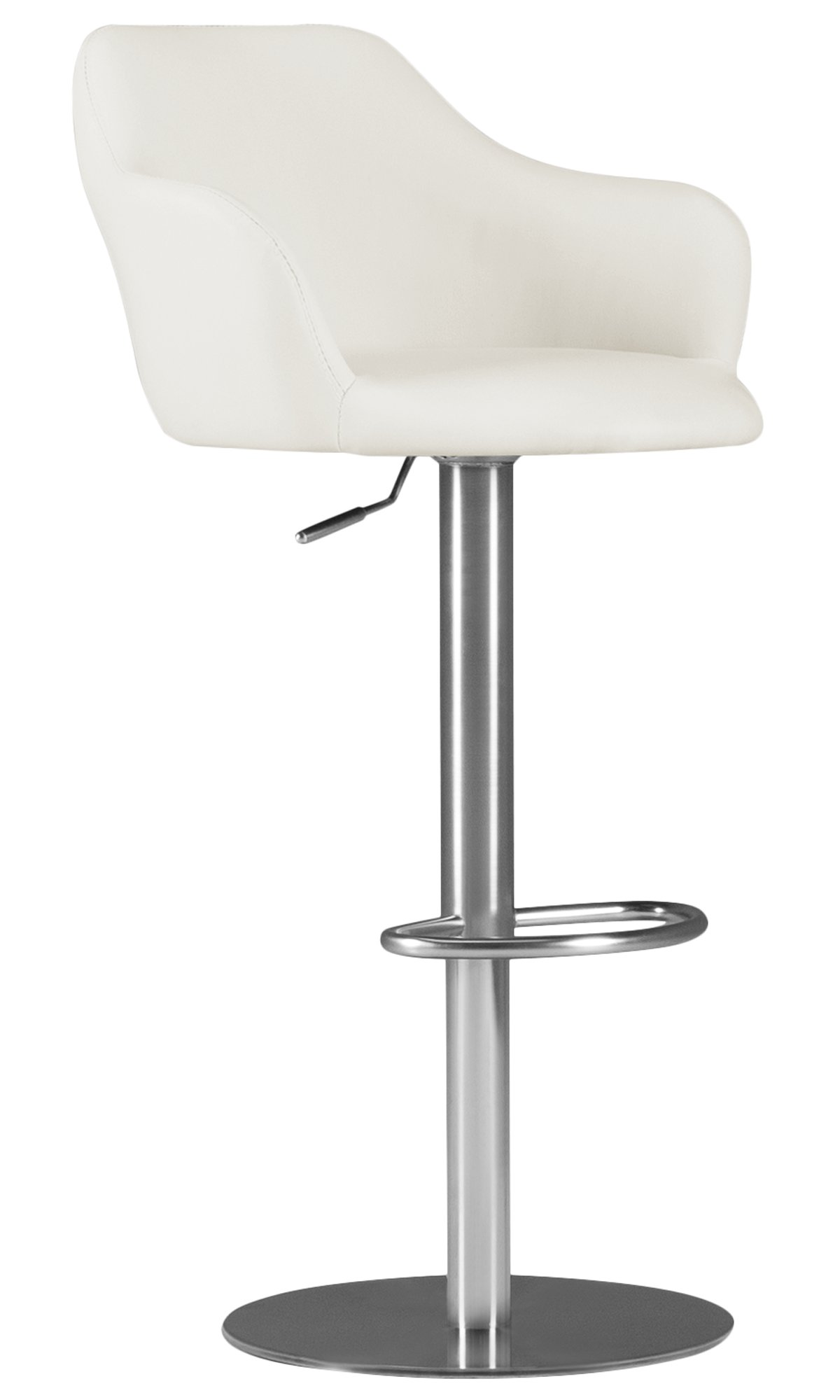 City Furniture Hyde White Upholstered Adjustable Stool