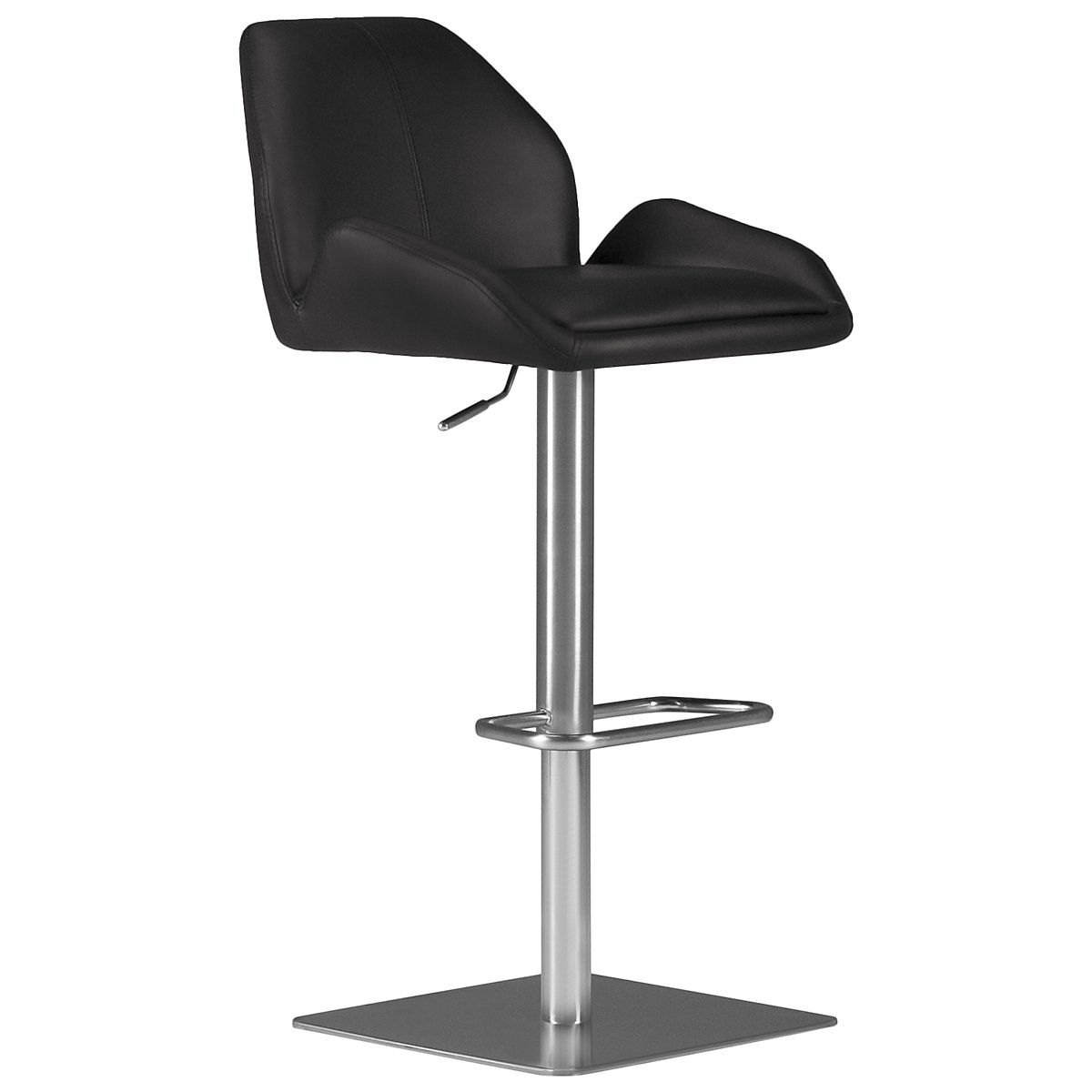 Fairfax Black Upholstered Adjustable Stool