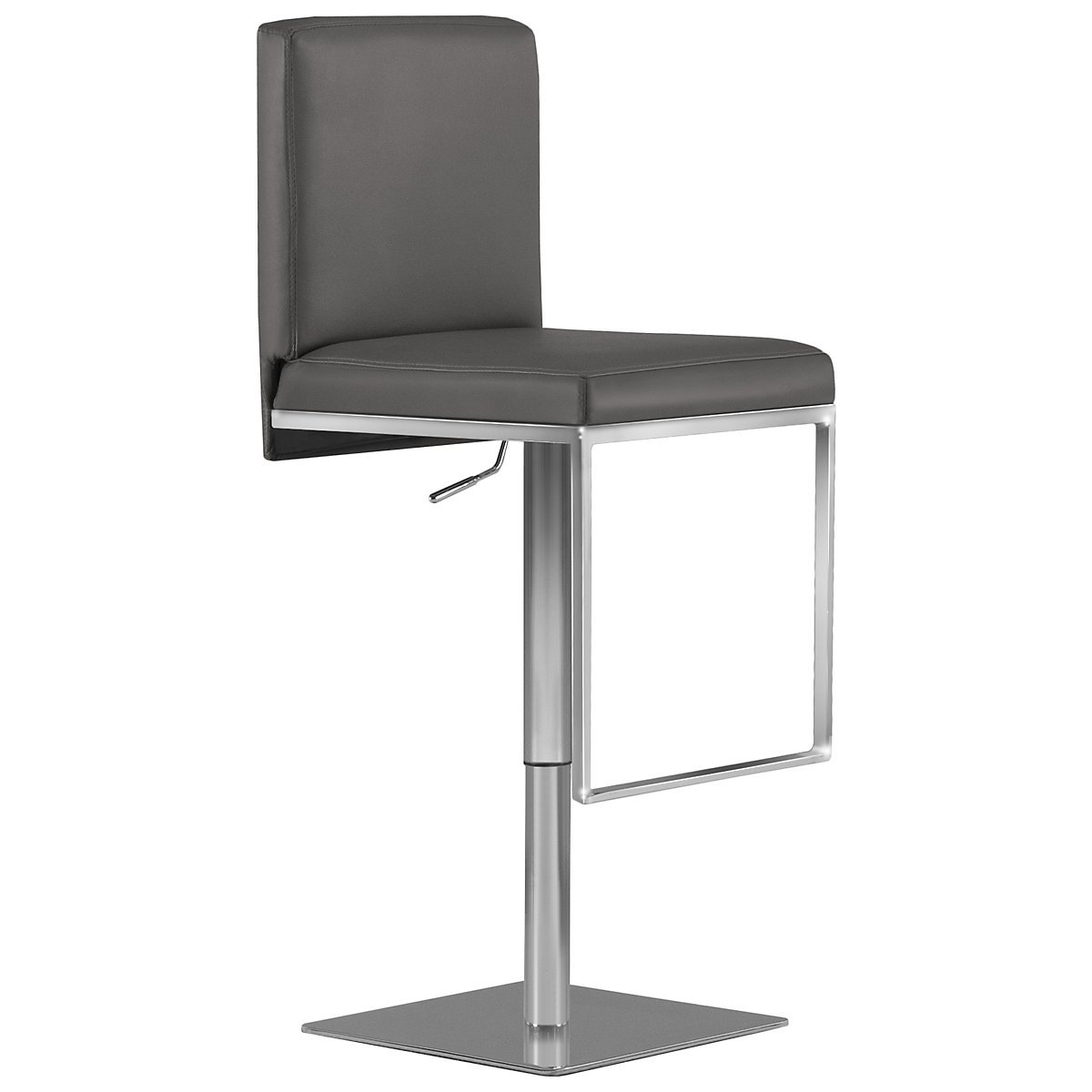Berlin Gray Upholstered Adjustable Stool