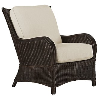 Riviera Dark Tone Woven Accent Chair