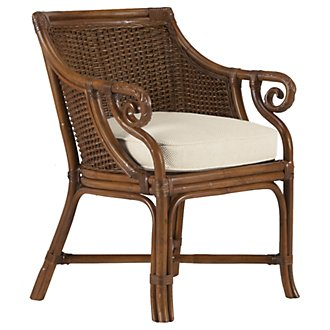 Empress Mid Tone Woven Accent Chair
