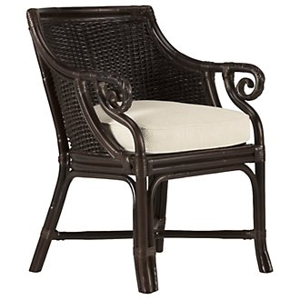 Empress Dark Tone Woven Accent Chair