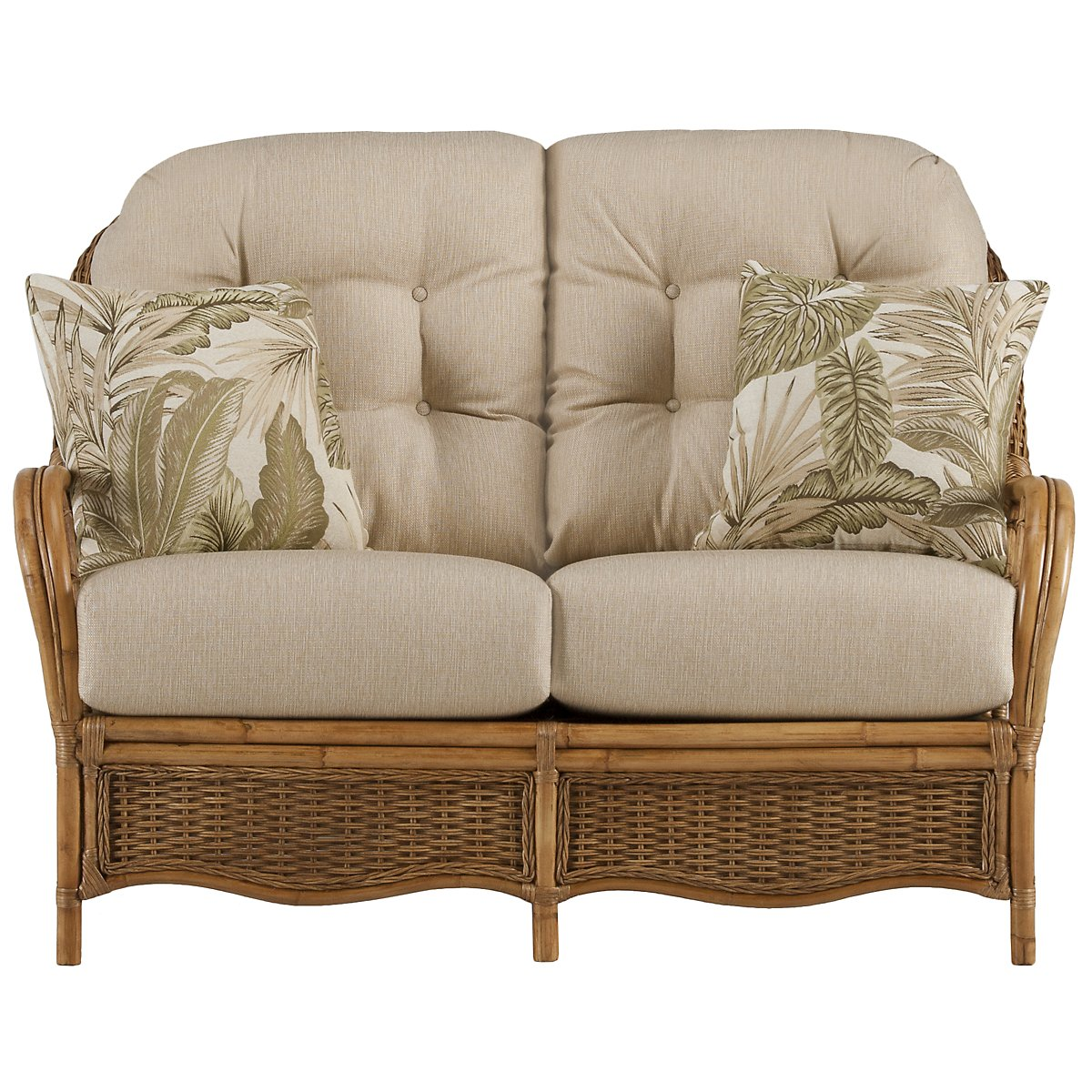 Glades Light Tone Woven Loveseat