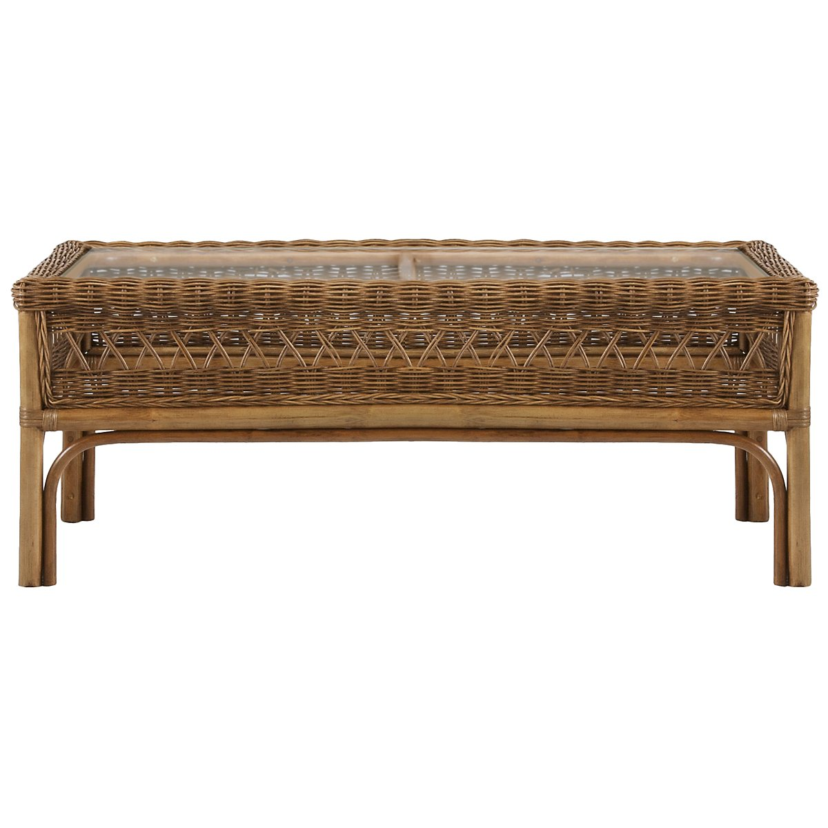 Glades Light Tone Woven Rectangular Coffee Table