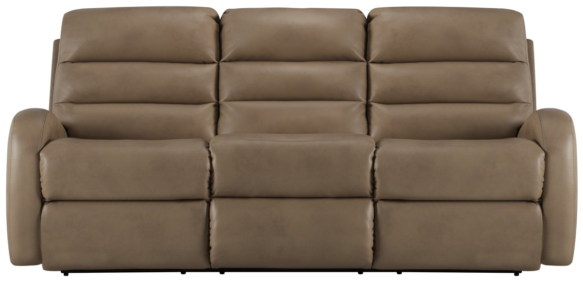 City Furniture Carver Beige Microfiber Reclining Sofa