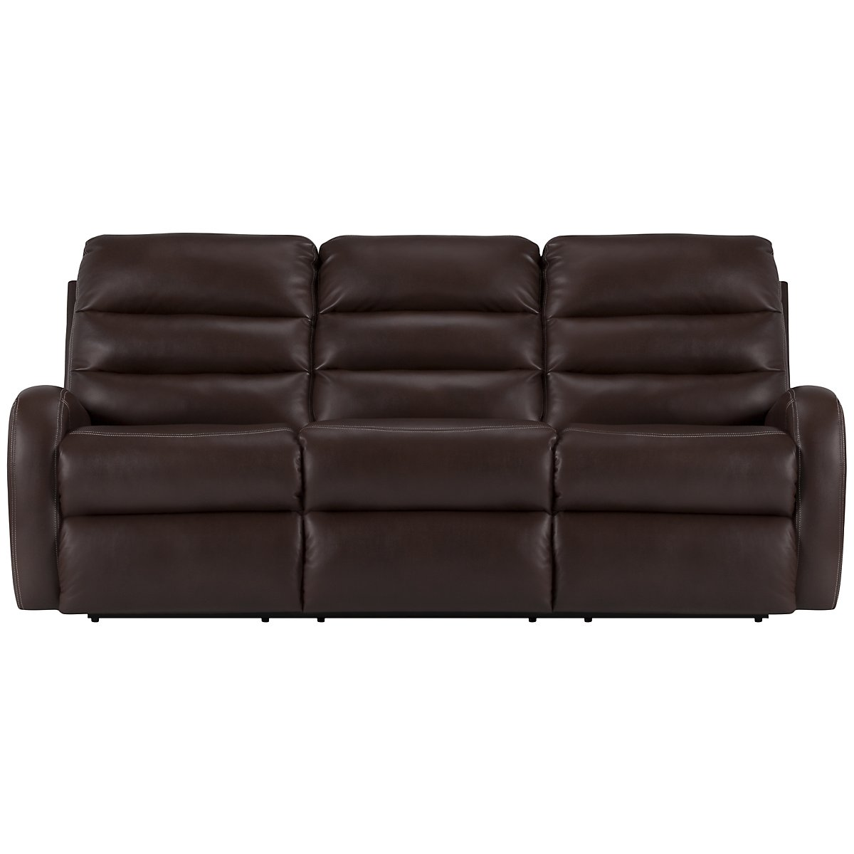 Carver Dark Brown Microfiber Reclining Sofa