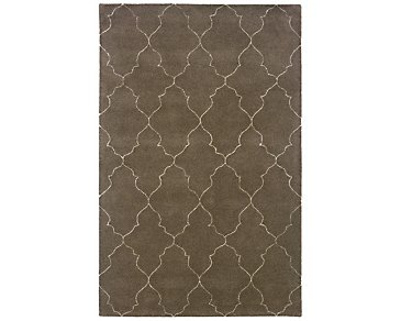 Asha Dark Brown 5X8 Area Rug