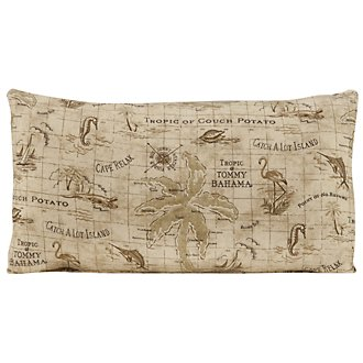 Map Multi Fabric Rectangular Accent Pillow