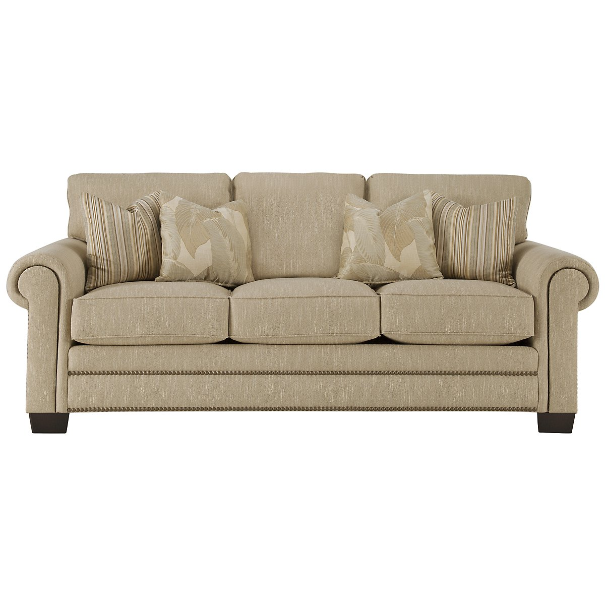 Erin Lt Brown Fabric Sofa