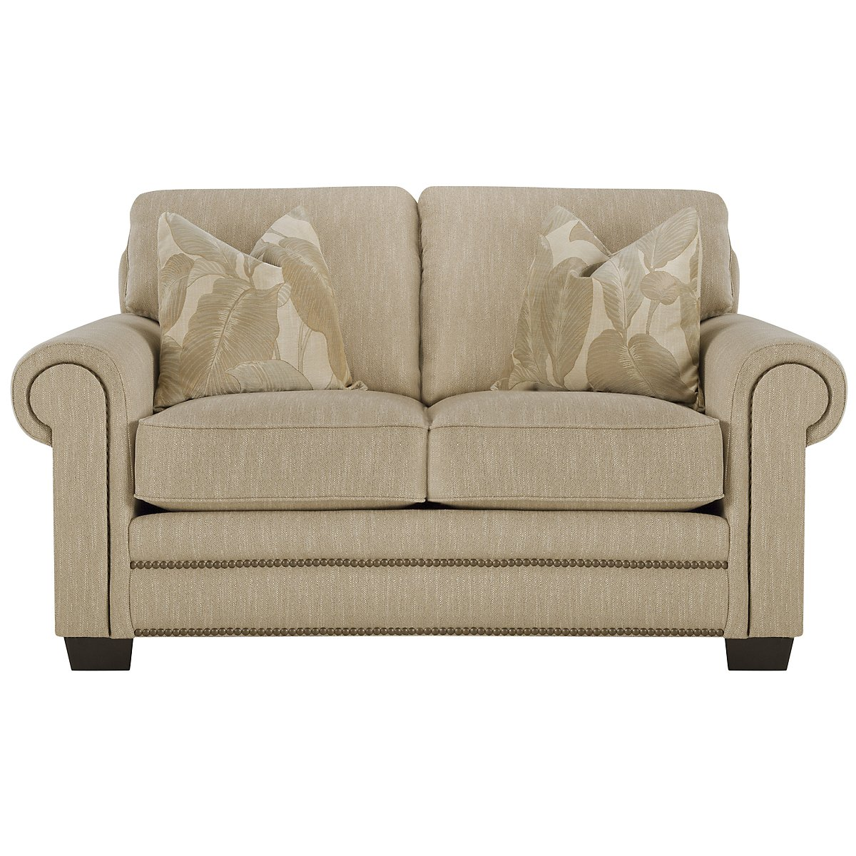 Erin Light Brown Fabric Loveseat
