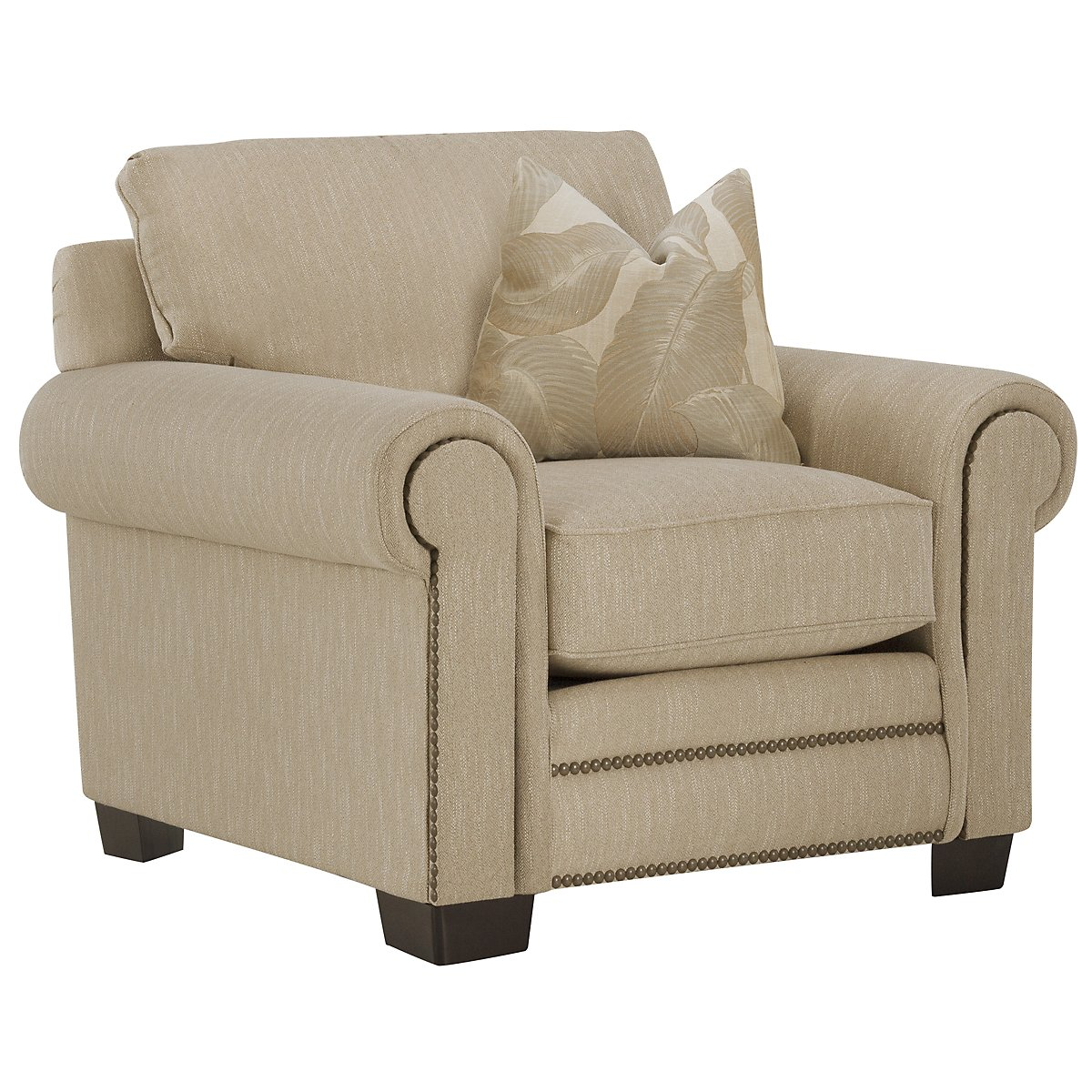 Erin Light Brown Fabric Chair