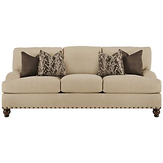 Meadow Khaki Fabric Sofa
