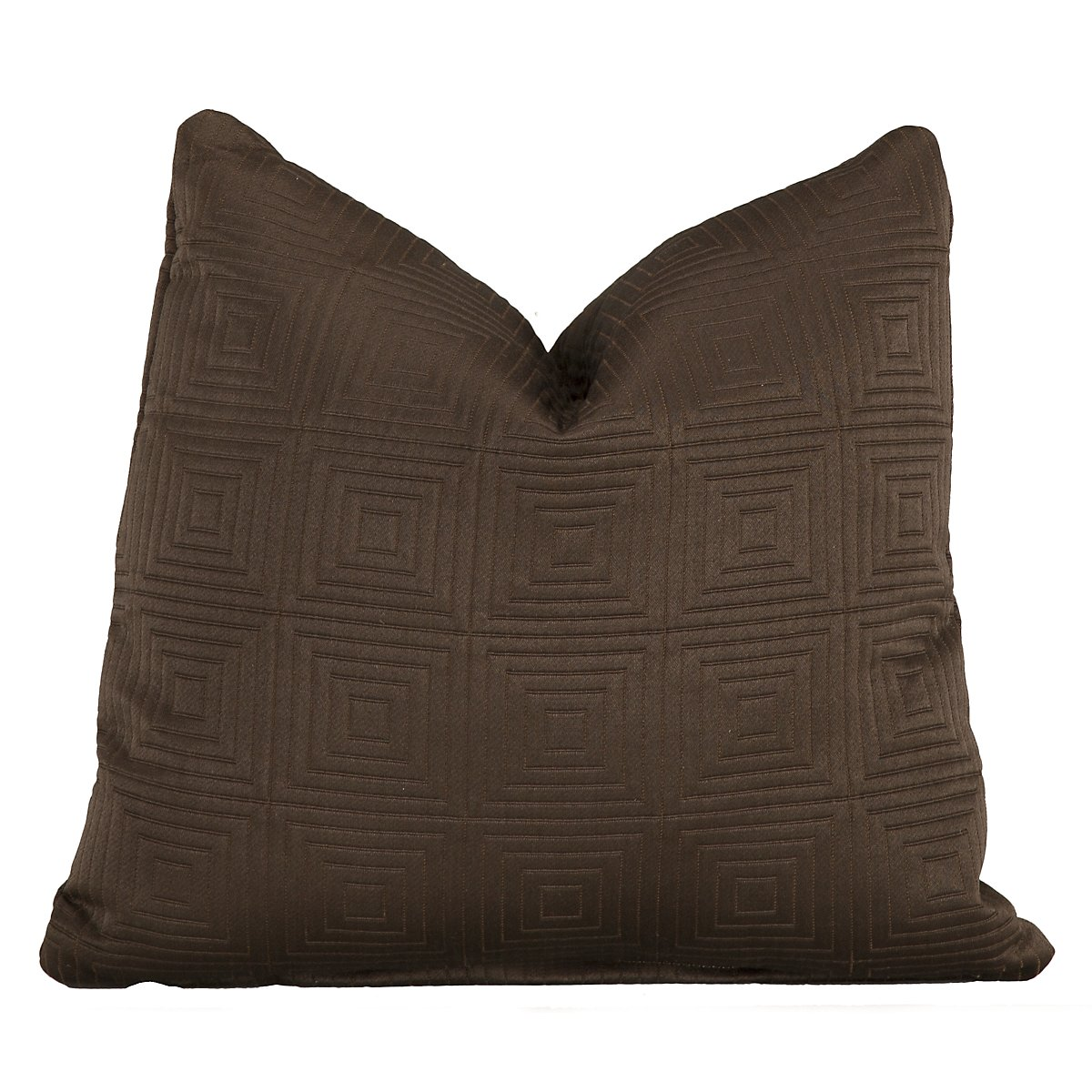 Meadow Dk Brown Fabric Square Accent Pillow
