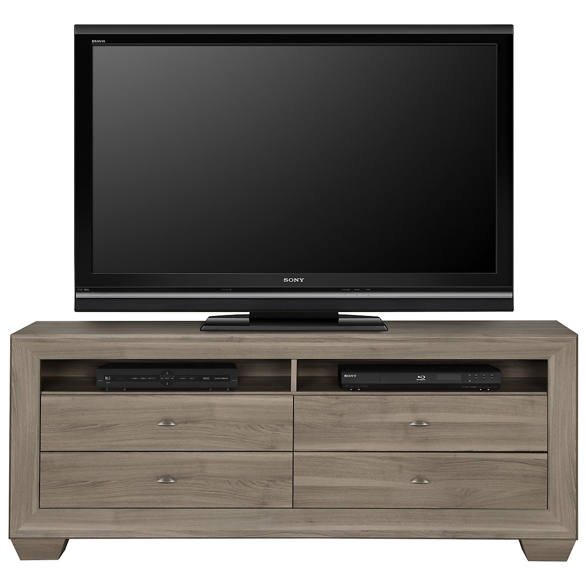 City furniture adele2 light tone 70 tv stand for Tv stand kids room