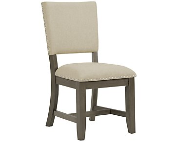Omaha Gray Upholstered Side Chair