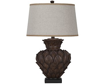 Aruba Dark Brown Table Lamp