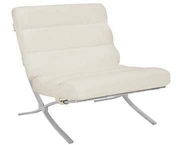 Hyde White Bonded Leather Accent Chair