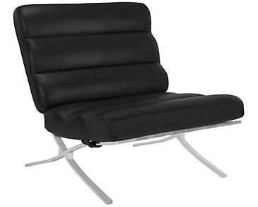 Hyde Black Bonded Leather Accent Chair