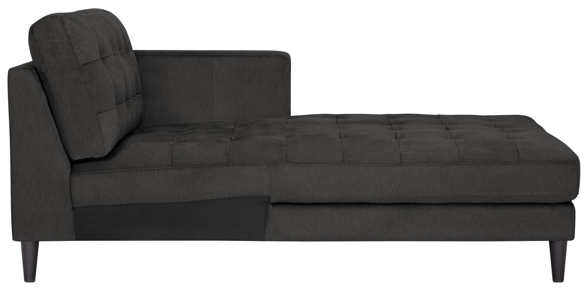 City Furniture Shae Dark Gray Microfiber Right Chaise Sectional