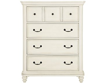 Madison White Drawer Chest