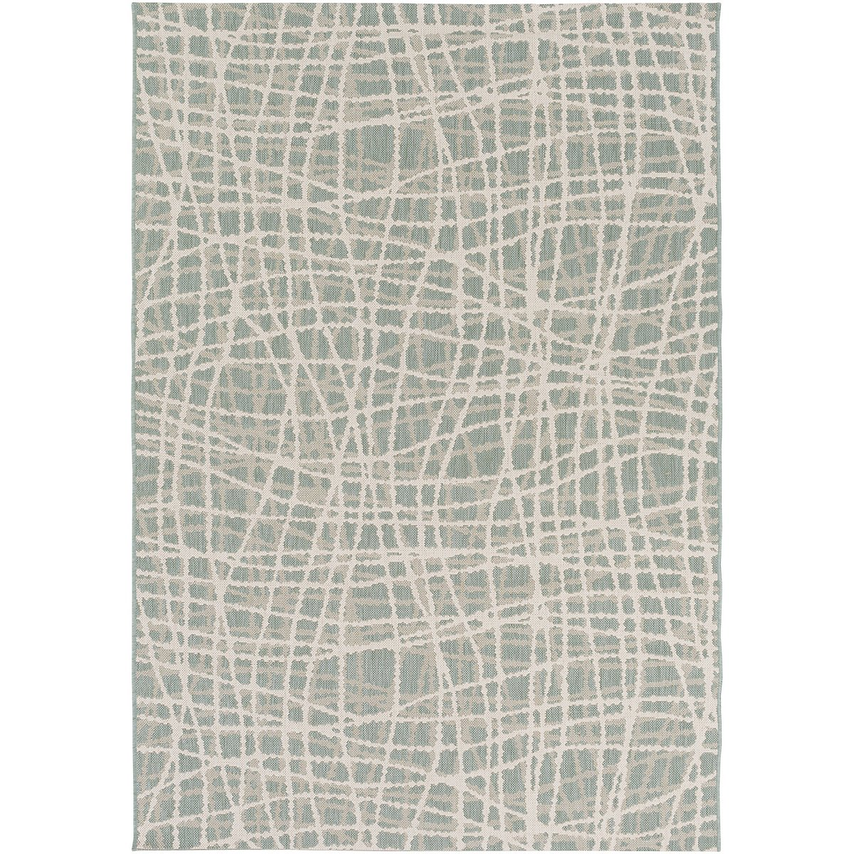 Terrace Blue Indoor/Outdoor 8x10 Area Rug