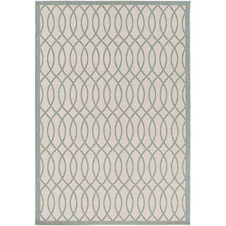 Track Blue Indoor/Outdoor 5x8 Area Rug