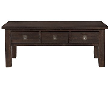 Kona Grove Dark Tone Storage Rectangular Coffee Table