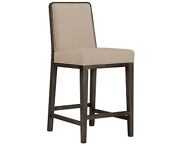 "Alisa Light Taupe Fabric 24"" Barstool"