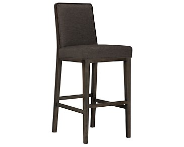 "Alisa Dark Gray Fabric 30"" Barstool"
