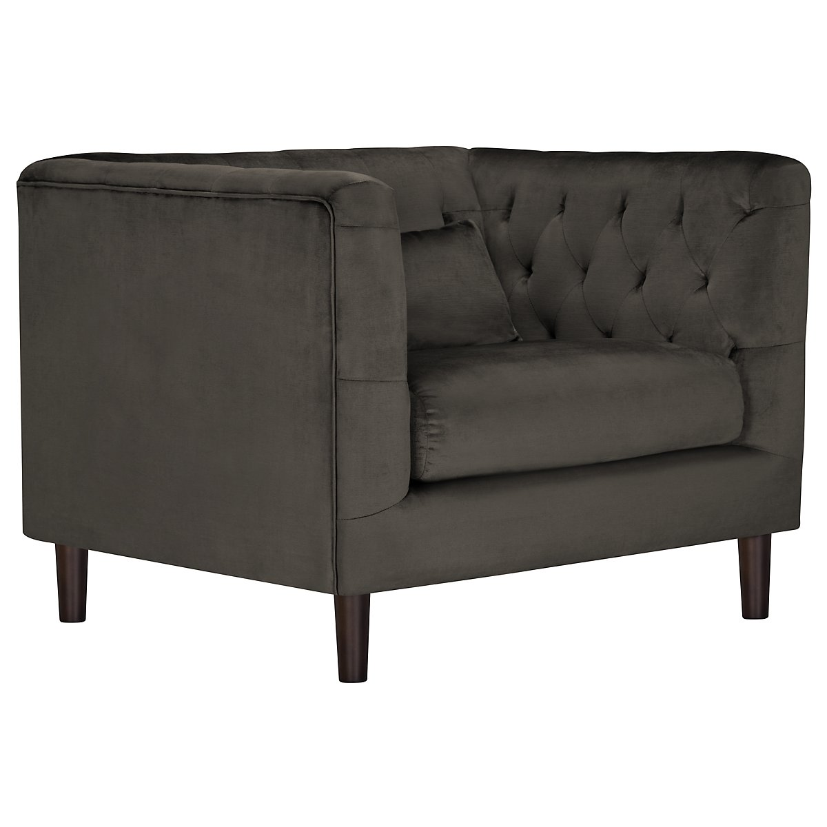 Robin Dark Gray Microfiber Chair