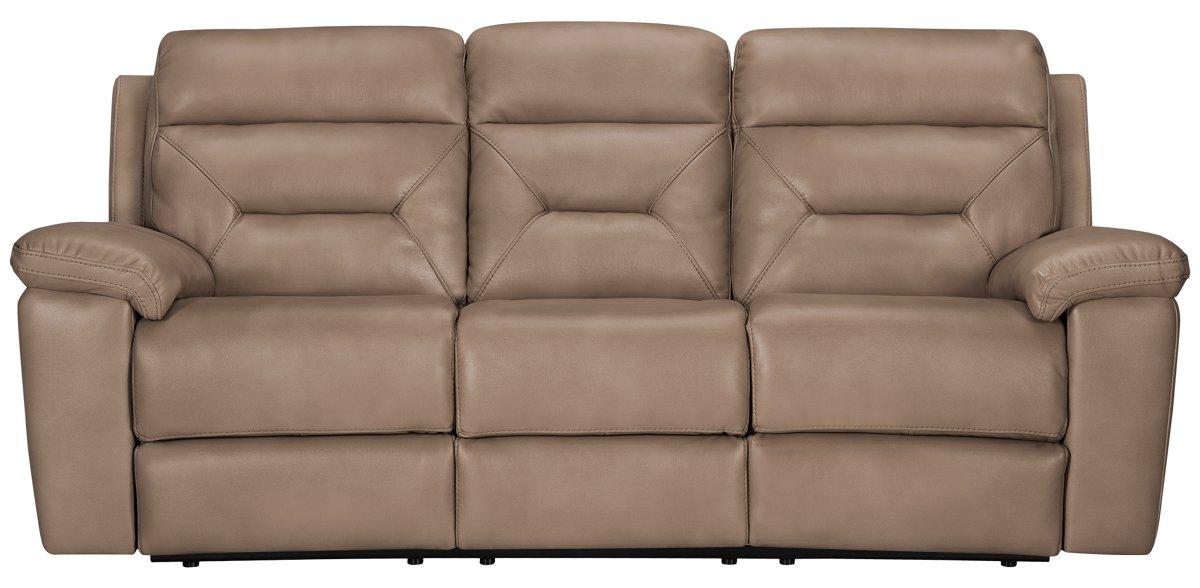 City Furniture Phoenix Dk Beige Microfiber Reclining Sofa